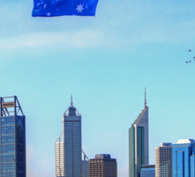 Flying The Flag - Perth WA - Australia Day 2015 - HDR Sticker