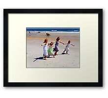 Here Come the Girls Framed Print