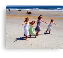 Here Come the Girls Canvas Print