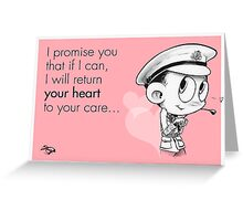 Valentine's  Little Captain Nicholls Greeting Card
