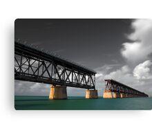 Old Bahia Honda Bridge Canvas Print