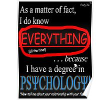 Psychology Degree (Dark Backgrounds) Poster