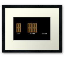Door, Mordor, Gondor Framed Print