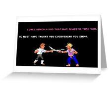 Guybrush - Insult Swordfighting Greeting Card