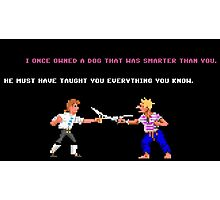 Guybrush - Insult Swordfighting Photographic Print
