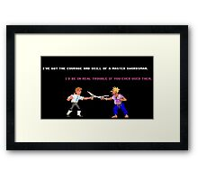Guybrush - Insult Swordfighting Framed Print