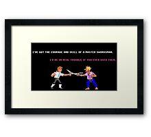 Guybrush - Insult Swordfighting Framed Print