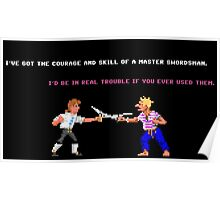 Guybrush - Insult Swordfighting Poster