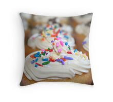 Sprinkled Cupcakes Throw Pillow