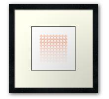 Coral Diamonds Framed Print