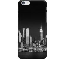 West Side skyline at night, Manhattan New York iPhone Case/Skin