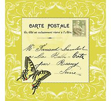 Yellow French postcard Photographic Print