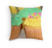 Easter Cupcakes Throw Pillow