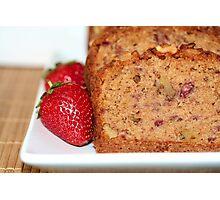 Strawberry Banana Bread Photographic Print