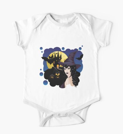 Witch and Bats One Piece - Short Sleeve