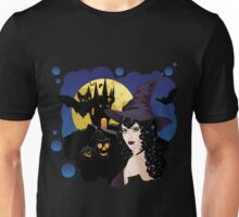 Witch and Bats Unisex T-Shirt