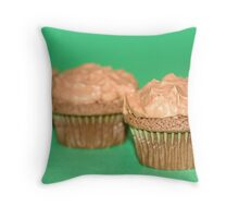 Chocolate Mint Cupcakes Throw Pillow