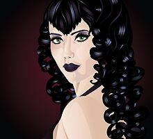 Witch with Black Hair 2 by AnnArtshock