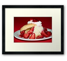 Strawberry Shortcake Framed Print