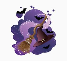 Witch broom and hat Unisex T-Shirt