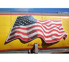 American Flag on Train. . .Union Pacific Photographic Print