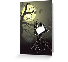 Zombie Hand with Phone Greeting Card