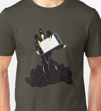 Zombie Hand with Phone 2 Unisex T-Shirt