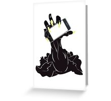 Zombie Hand with Phone 2 Greeting Card