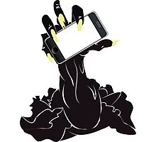 Zombie Hand with Phone 2 Photographic Print