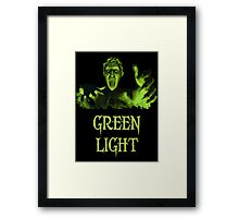 GREEN LIGHT! ..you really shouldn't have blinked... Framed Print