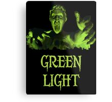GREEN LIGHT! ..you really shouldn't have blinked... Metal Print