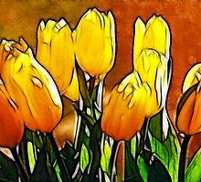 Bunch of Yellow Tulips by Francine Dufour Jones