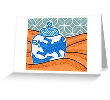Dragon vase Greeting Card