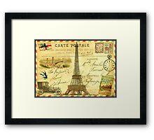 Travel diary Eiffel Tower Framed Print