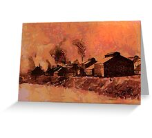 The wire mill, Monongahela River,  Donora, Pennsylvania. Greeting Card