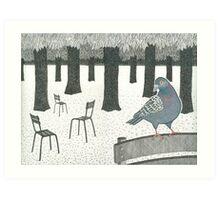 Pigeon in the Jardin de Luxembourg, Paris Art Print