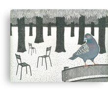 Pigeon in the Jardin de Luxembourg, Paris Canvas Print