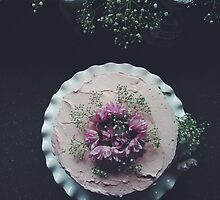 Beautiful Raspberry Cake by Voila and Black Ribbon