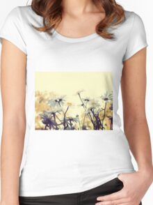 Summer Chamomiles 7 Women's Fitted Scoop T-Shirt