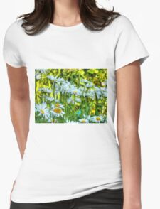 Summer Chamomiles 8 Womens Fitted T-Shirt