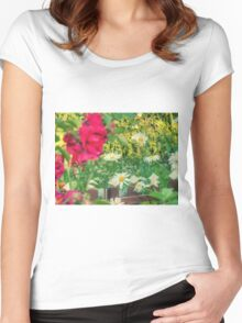 Summer Chamomiles 13 Women's Fitted Scoop T-Shirt