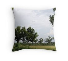 Deep Fork Tree Farm Throw Pillow