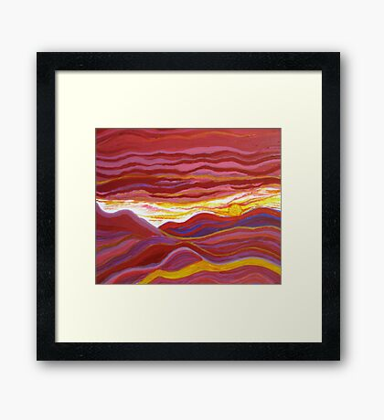 Firery Sunset-Available As Art Prints-Mugs,Cases,Duvets,T Shirts,Stickers,etc Framed Print