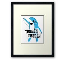 Tiburón Tiburón - Left Shark  - Super Bowl Halftime Shark 2015 Framed Print