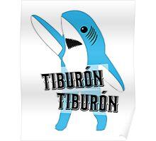Tiburón Tiburón - Left Shark  - Super Bowl Halftime Shark 2015 Poster