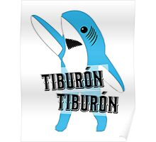 Tiburón Tiburón - Left Shark  - Super Bowl Halftime Shark 2015 Poster