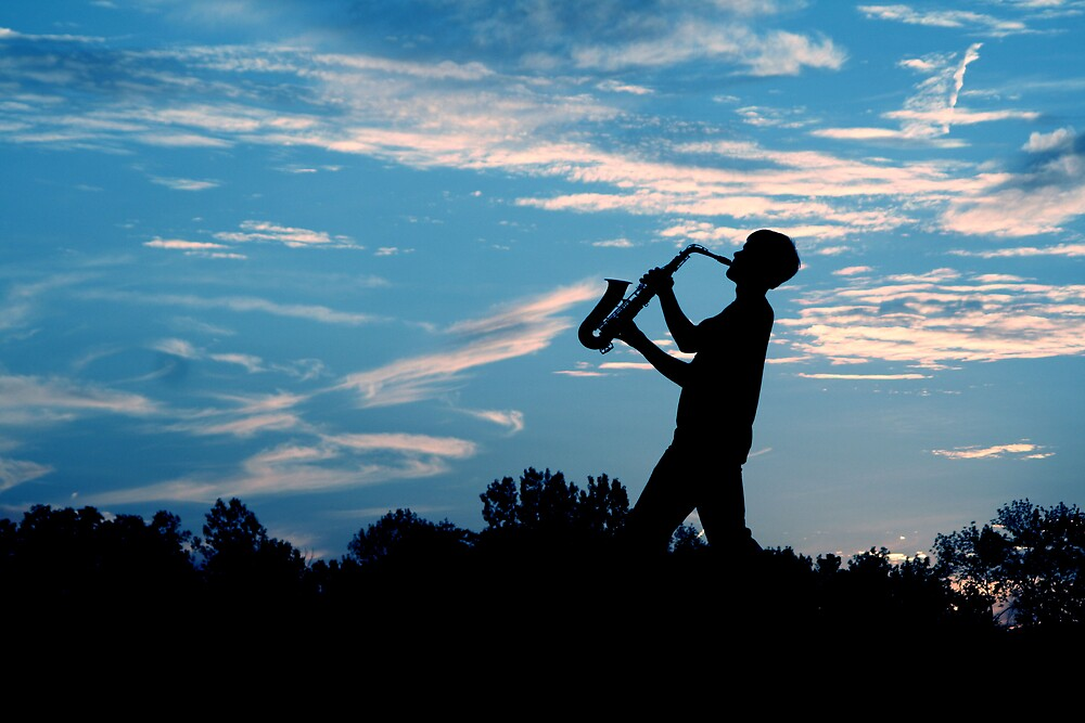 Sax Silhouette by mrshattery