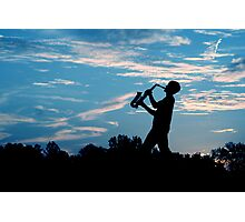 Sax Silhouette Photographic Print