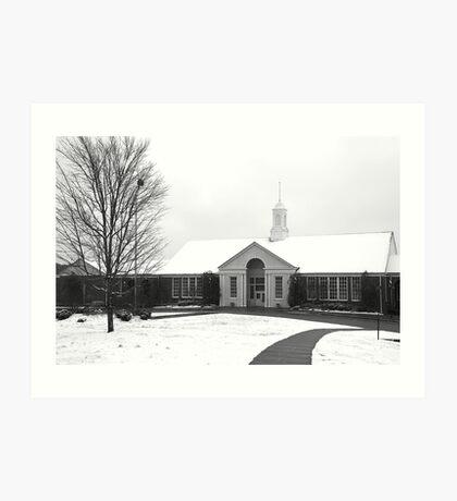 Snow Upon Douglas - Douglas County High School Art Print