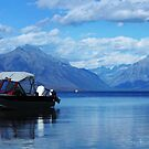 Boat on the Lake by artsphotoshop
